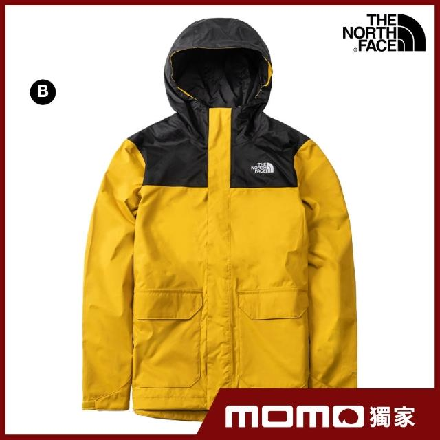 【The North Face】人氣推薦-男女款戶外防水透氣連帽衝鋒衣(4款任選)