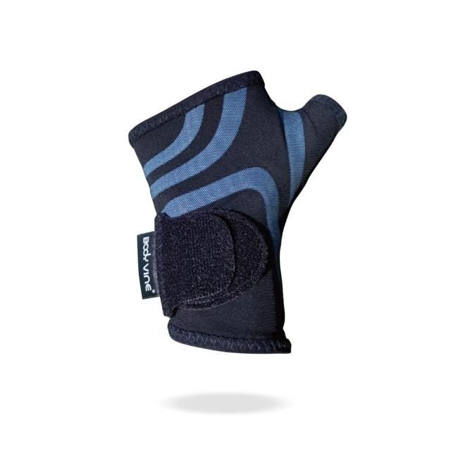 【BodyVine 巴迪蔓】超肌感貼紮護腕 沉穩灰/耀動藍(腕關節 滑鼠手 護腕)