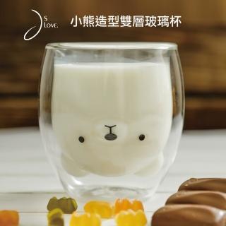 【JsLove皆樂】小熊造型雙層玻璃杯(耐熱/泡茶杯/水杯/療癒)
