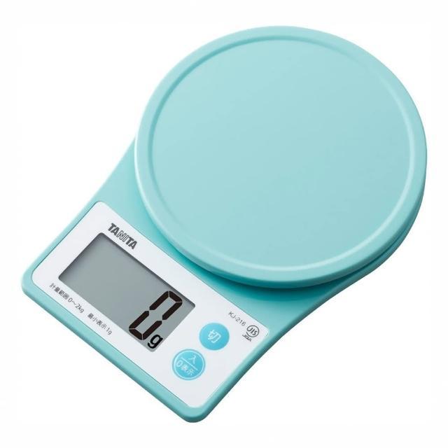 【TOKYU HANDS 台隆手創館】TANITA電子秤2公斤-PKJ216(櫻花粉/藍綠)