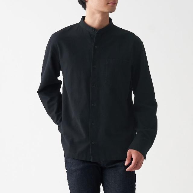 【MUJI 無印良品】男有機棉法蘭絨立領襯衫(共8色)